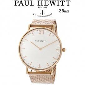 ポールヒューイット Sailor Line 36mm ユニセックス 腕時計 6450990 PHSARSMW4S ホワイト/ローズ