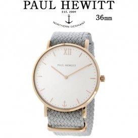 ポールヒューイット Sailor Line 36mm ユニセックス 腕時計 6452221 PHSARSMW18S ホワイト/グレー