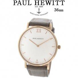 ポールヒューイット Sailor Line 36mm ユニセックス 腕時計 6451714 PHSARSMW13S ホワイト/グレー