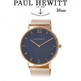 ポールヒューイット Sailor Line 36mm ユニセックス 腕時計 6451054 PHSARSMB4S ブルーラグーン/ローズ