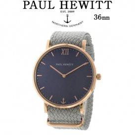 ポールヒューイット Sailor Line 36mm ユニセックス 腕時計 6452237 PHSARSMB18S ブルーラグーン/グレー