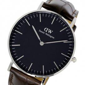 ダニエル ウェリントン クラシック ブラック ヨーク/シルバー 36mm ユニセックス 腕時計 DW00100146