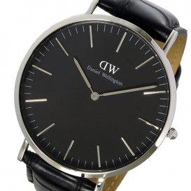 ダニエル ウェリントン クラシック ブラック リーディング/シルバー 40mm メンズ 腕時計 DW00100135