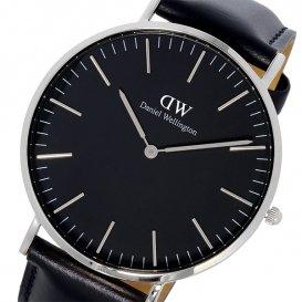 ダニエル ウェリントン クラシック ブラック シェフィールド/シルバー 40mm メンズ 腕時計 DW00100133