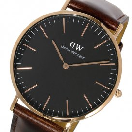 ダニエル ウェリントン クラシック ブラック ブリストル/ローズ 40mm メンズ 腕時計 DW00100125