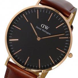 ダニエル ウェリントン クラシック ブラック セントモース/ローズ 40mm メンズ 腕時計 DW00100124