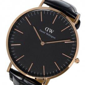 ダニエル ウェリントン クラシック ブラック リーディング/ローズ 40mm メンズ 腕時計 DW00100129