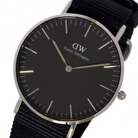 ダニエル ウェリントン クラシック ブラック コーンウォール/シルバー 36mm ユニセックス 腕時計 DW001001…