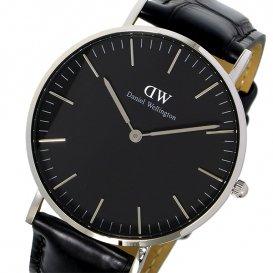 ダニエル ウェリントン クラシック ブラック リーディング/シルバー 36mm ユニセックス 腕時計 DW00100147