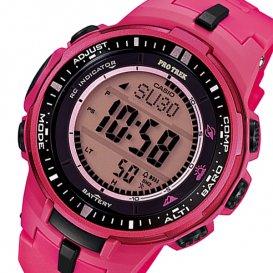 カシオ CASIO プロトレック 電波 タフソーラー メンズ 腕時計 PRW-3000-4B ピンク