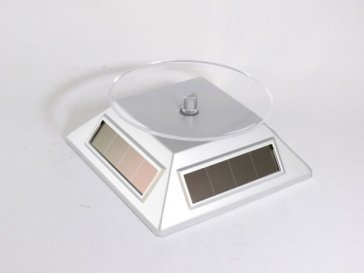 エスピーアイ SPI 回転型 ソーラースタンド シルバー (腕時計 小物のディスプレイ)