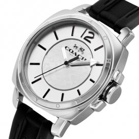 コーチ ボーイフレンド ミニ クオーツ レディース 腕時計 CO14502152 ブラック