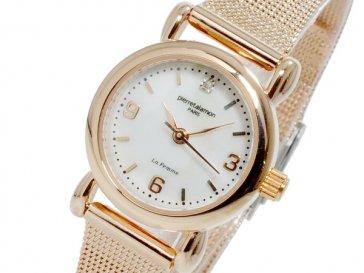ピエールタラモン PIERRETALAMON クオーツ レディース 腕時計 PT-7200L-2 ピンクゴールド