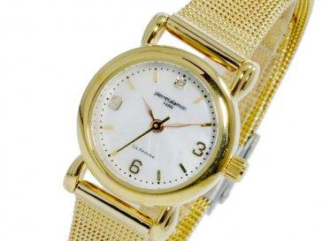 ピエールタラモン PIERRETALAMON クオーツ レディース 腕時計 PT-7200L-1 ゴールド