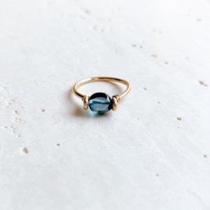 Pebble Ring_ロンドンブルートパーズ