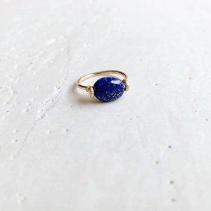 Pebble Ring_ラピスラズリ