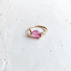 Pebble Ring_ピンクサファイア