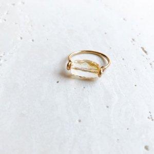 Pebble Ring_シトリン
