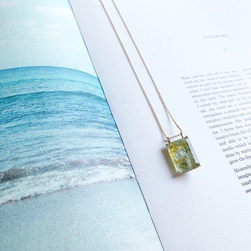 gem necklace_アクアマリン