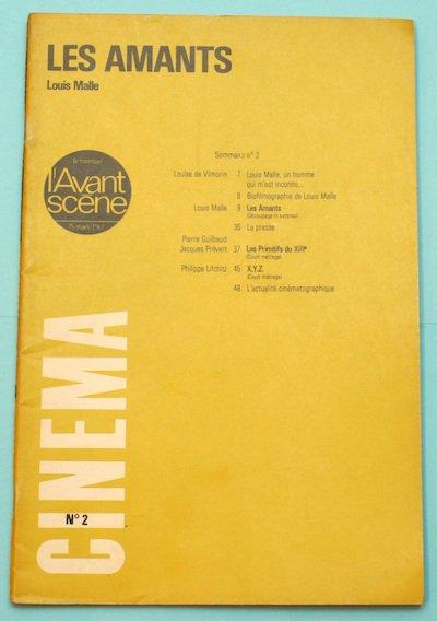 """L'Avant-Scene Cinema No2  特集 ルイ・マル「恋人たち」""""Les Amants"""""""