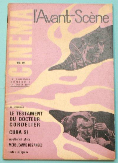 "L'Avant-Scene Cinema No6 特集 ジャン・ルノワール「コルドリエ博士の遺言」""Le Testament Du Docteur Cordelier"""