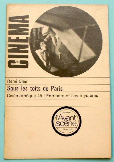 "L'Avant-Scene Cinema No281 特集 ルネ・クレール ""巴里の屋根の下""(1930)"