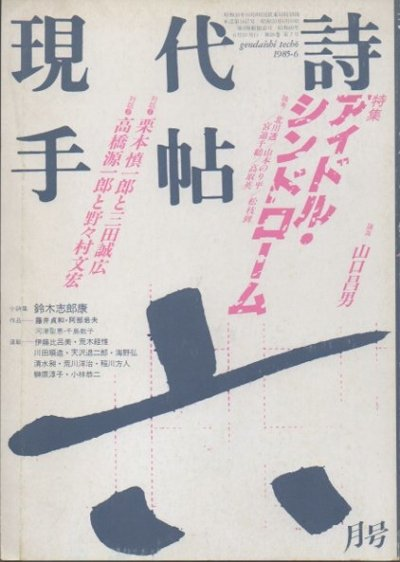 現代詩手帖 1985年6月号 特集 アイドル・シンドローム