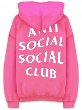 <strong>ANTI SOCIAL SOCIAL CLUB</strong>YOU GO AS I COME SWEAT HOODIE<br>SCARLET PINK