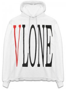 <strong>VLONE</strong>DISTRESSED SWEAT HOODIE<br >WHITE