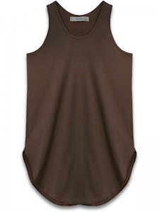 <strong>alchemist ink</strong>SCALLOP TANK-TOP<br>CHOCOLATE