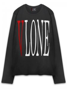 <strong>VLONE</strong>LONG SLEEVE T-SHIRT<br >BLACK