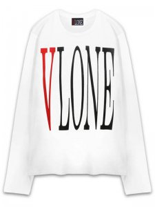<strong>VLONE</strong>LONG SLEEVE T-SHIRT<br >WHITE