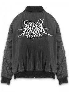 <strong>ANTON LISIN</strong>EMBROIDERED BOMBER JACKET<br>BLACK / WHITE