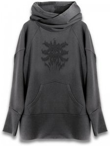 <strong>ANTON LISIN</strong>MORBID LONG PRINT HOODIE<br>CHARCOAL / BLACK【チャコール / ブラック】