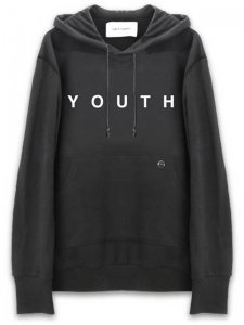 <strong>YOUTH MACHINE</strong>YOUTH SWEAT HOODIE<br>BLACK