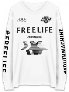 <strong>FREELIFE LA</strong>FREELIFE CLASSIC LONG SLEEVE T-SHIRT<br >WHITE