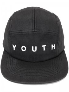 <strong>YOUTH MACHINE</strong>YOUTH 5PANEL CAMP CAP<br>BLACK