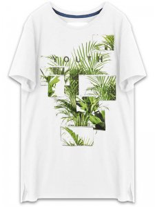 <strong>YOUTH MACHINE</strong>GREENHOUSE T-SHIRT<br>WHITE