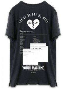 <strong>YOUTH MACHINE</strong>BASECAMP FOR YOUTHMACHINE 404 T-SHIRT<br>BLACK