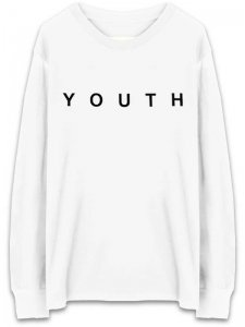 <strong>YOUTH MACHINE</strong>INTERNET DREAMS LONG SLEEVE T-SHIRT<br>WHITE