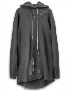 <strong>Physical Novel</strong>BIRDS EMBLOIDERED HOODED TOP<br>BLACK