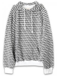 <strong>FOG | FEAR OF GOD</strong>ALL OVER PRINTED RAGLAN HOODIE<br>WHITE × BLACK