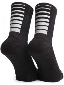 <strong>ICNY</strong>GRADIENT STRIPE QUARTER ANKLE SOCKS<br>BLACK