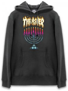 <strong>THRASHER</strong>MENORAH SWEAT HOODIE<br >BLACK