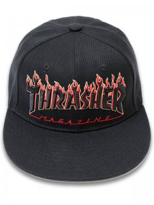 <strong>THRASHER</strong>FLAME LOGO CAP<br >BLACK / YELLOW