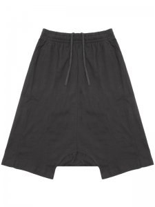 <strong>by H. New York</strong>EZ PANELLED DROP CLOTCH SHORTS<br >BLACK