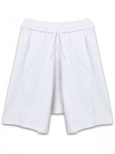<strong>by H. New York</strong>EZ PANELLED DROP CLOTCH SHORTS<br >WHITE