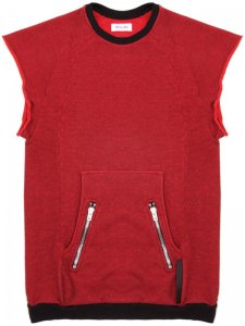 <strong>ASGER JUEL LARSEN</strong>Gravity Cutoff Sleeve Sweat<br>RED MELANGE