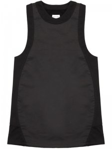 <strong>ASGER JUEL LARSEN</strong>DYSTOPIA TANK TOP<br>BLACK COATED JERSEY & BLACK MESH