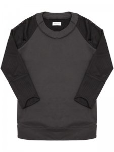 <strong>ASGER JUEL LARSEN</strong>TOXIC SWEAT SHIRT<br>BLACK COATED JERSEY & BLACK MESH